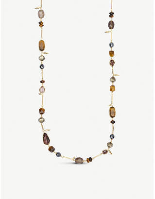 Kendra Scott Ruth 14ct yellow-gold plating and multi stones necklace