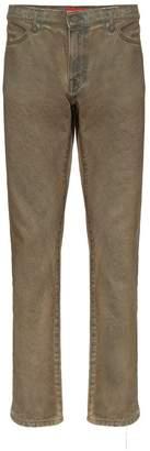 424 Dust oil wash denim jeans