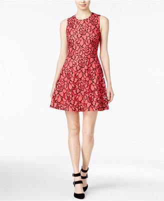 Maison Jules Lace Fit & Flare Dress, Only at Macy's $89.50 thestylecure.com