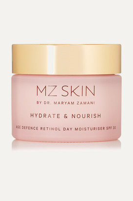 MZ Skin - Hydrate & Nourish Age Defence Retinol Day Moisturizer Spf30, 50ml - Colorless $145 thestylecure.com