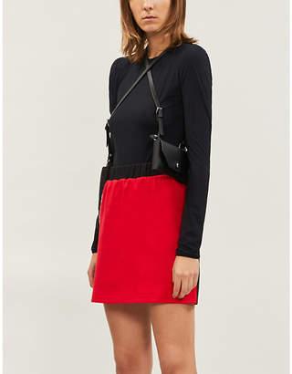 Chocoolate Two-tone cotton-blend mini skirt