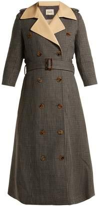KHAITE Charlotte houndstooth wool trench coat