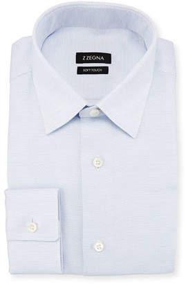 Z Zegna 2264 Z Zegna Soft Touch Dash-Print Dress Shirt