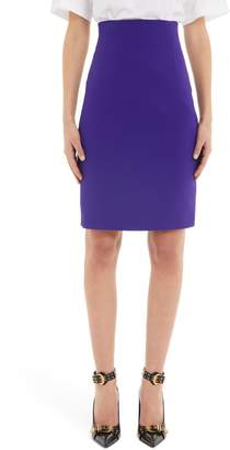 Versace First Line Ribbed Pencil Skirt