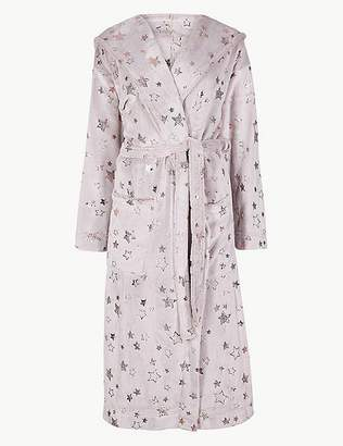 Marks and Spencer Fleece Star Print Dressing Gown