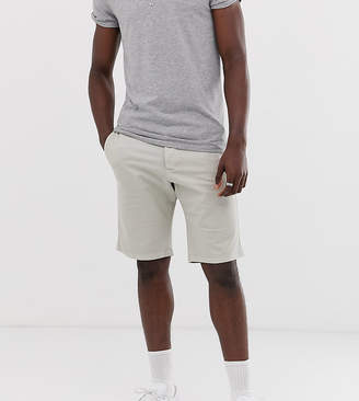 French Connection Tall slim fit peached cotton chino shorts