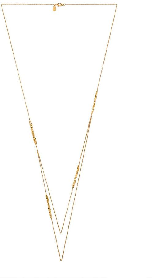 Alexis Bittar Crystal Encrusted Rocky Station Necklace