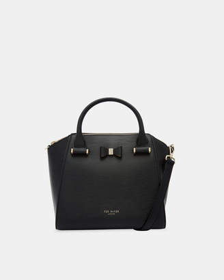 Ted Baker CALA Bow detail small leather tote bag