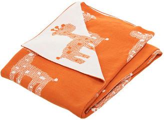 One Kings Lane Giraffe Baby Blanket - Orange/Natural