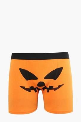 BoohooMAN Halloween Pumpkin Face Boxers