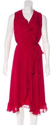 Haute Hippie Ruffled Silk Dress