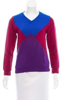 Ostwald Helgason Colorblock V-Neck Sweatshirt