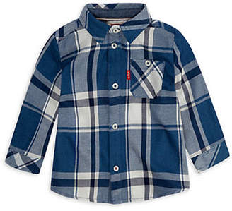 Levi's Baby Boy's Plaid Long-Sleeve Cotton Shirt