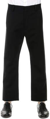Alexander McQueen (アレキサンダー マックイーン) - Alexander McQueen 裾デザイン パンツ ブラック 50