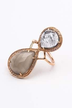 Jacquie Aiche Moonstone Trinity Ring