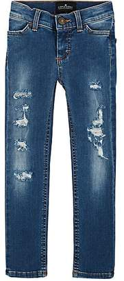 Little Remix KIDS' BLUE MOON DISTRESSED JEANS - BLUE SIZE 4 YRS
