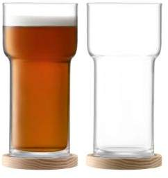 Two-Piece Utility Beer Glass & Coaster Set