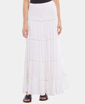Karen Kane Lattice-Trim Maxi Skirt