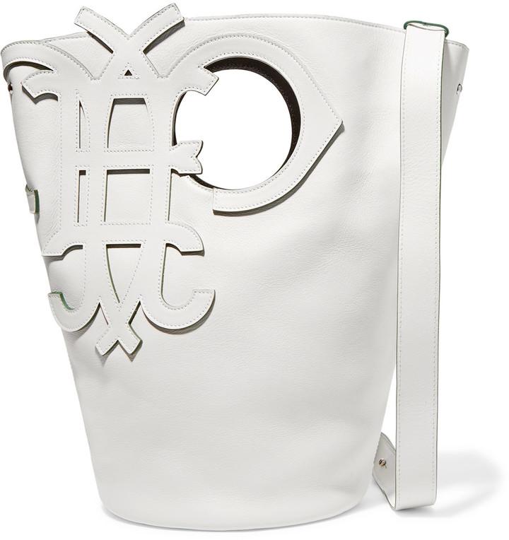 Emilio PucciEmilio Pucci Cutout leather shoulder bag