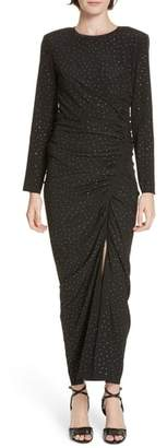 Veronica Beard Amara Rhinestone Dot Stretch Silk Dress