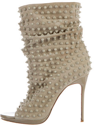 Christian Louboutin Christian Louboutin Guerilla Spiked Suede Ankle Boots