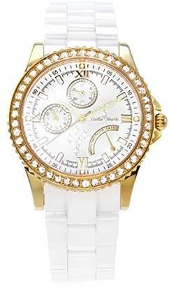 Swarovski Stella Maris STM15N5 -Women's Watch - White Watch Dial - Analog Quartz - White Ceramic Bracelet - Diamonds Elements - Stylish - Classy