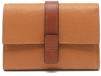 Loewe Anagram Grained Leather Bi Fold Wallet - Womens - Tan Multi