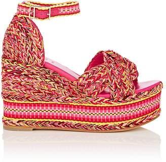 ANTOLINA Women's Amparo Cotton Platform-Wedge Sandals