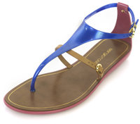 Sergio Rossi Jelly Sandal in Blue