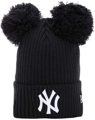 New Era Ny Yankees Beanie Hat W/ Popmpoms