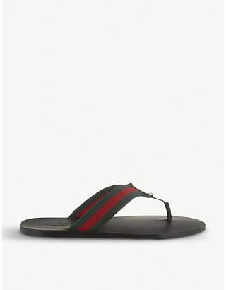 Gucci Web flip-flops
