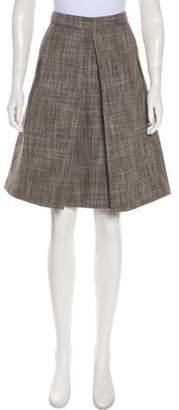 Marc Jacobs Textured Knee-Length Skirt Brown Textured Knee-Length Skirt