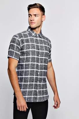 boohoo Short Sleeve Flannel Check Shirt