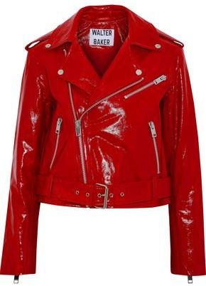Walter W118 By Baker Chrystal Patent-Leather Biker Jacket