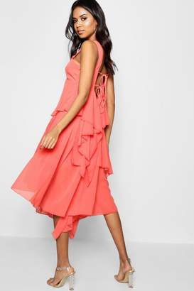 boohoo Boutique Asymmetric Tier Dress