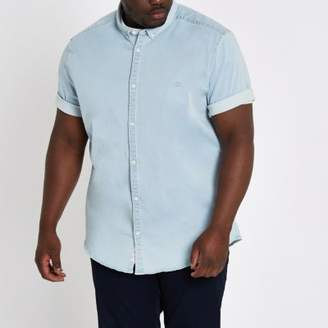 River Island Big and Tall light blue denim shirt