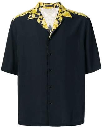 Versace baroque print logo shirt