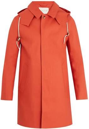 MACKINTOSH Bonded-cotton hooded overcoat