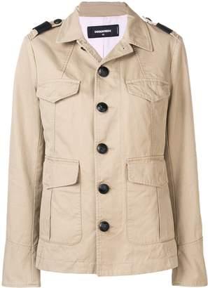 DSQUARED2 long sleeved safari jacket