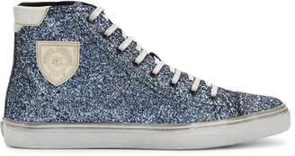 Saint Laurent Bedford glitter hi-top sneakers