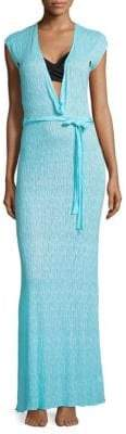 Melissa Odabash Plunging V-Neck Maxi Dress