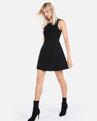 Express Scoop Neck Fit And Flare Dress