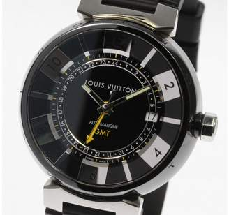 Louis Vuitton Tambour Q113K Stainless Steel / Rubber Automatic 41mm Mens Watch