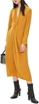 Topshop Twist Front Midi Dress