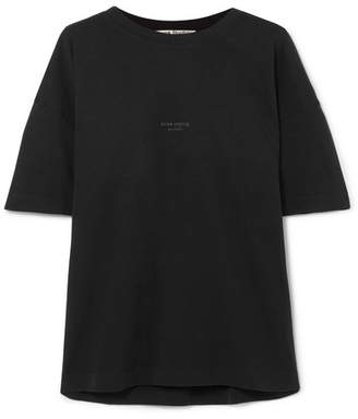 Acne Studios Stellie Printed Cotton T-shirt - Black