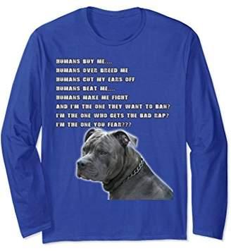 Pitbull Long Sleeve - Humans Buy Me...