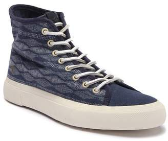 Frye Ludlow Canvas Print High-Top Sneaker