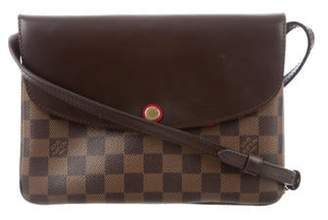 Louis Vuitton Damier Ebene Twice Cerise Brown Damier Ebene Twice Cerise