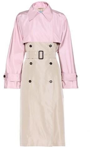 pradaPrada Silk-faille trench coat