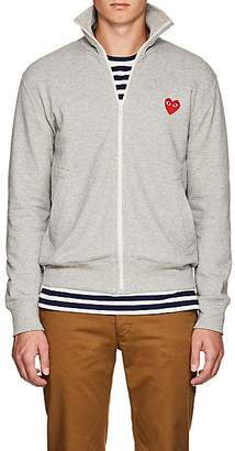 Comme des Garcons Men's Heart Cotton Terry Track Jacket - Light Gray
